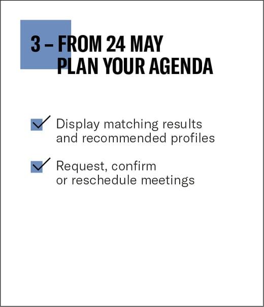 3. Plan your agenda